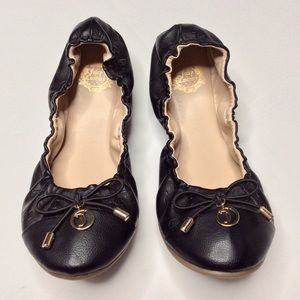 Juicy Couture Bowie Black Scrunch Ballet Flat